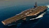 ناوهای آمریکایی مستقر در خلیج فارس از نگاه پهپاد سپاه