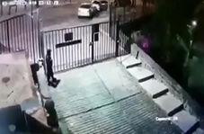 لحظه تصادف مرگبار یک خودروی شاسی بلند