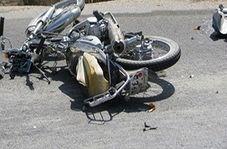 تصادف شاخ به شاخ سه موتورسیکلت با یکدیگر