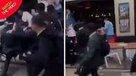لحظه حمله دسته جمعی دانش آموزان به افراد محلی!