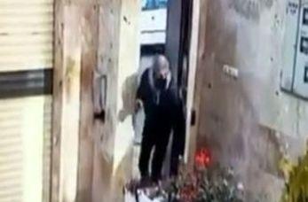 ورود یک سارق به ساختمان مسکونی برای سرقت برنج! + فیلم