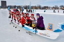 مسابقه قایقرانی روی یخ!