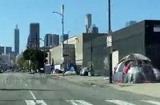 تصاویری از بی خانمان ها در خیابانهای لس آنجلس