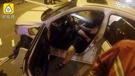 اعتیاد شدید راننده به تلفن همراهش حادثه آفرید!