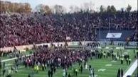 برهم زدن یک مسابقه فوتبال آمریکایی توسط فعالان محیط زیست