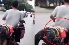 کار زشت پدر با دخترش به دلیل مدرسه نرفتن + عکس