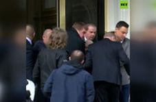 لحظه دستگیری جولیان آسانژ توسط پلیس انگلیس