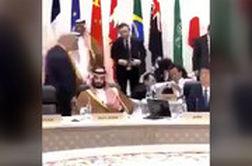 شوخی دستی ترامپ با محمد بنسلمان در اجلاس G20