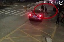 تصادف با کودک به علت بیتوجهی راننده به خط عبور عابر پیاده!