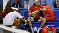 شوخی جالب دو تنیسباز در رقابتهای تنیس آزاد واشنگتن