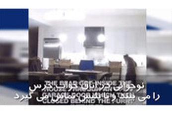 حمله خرس به یخچال خانه مسکونی