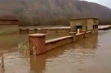 رودبارکوهدشت در آب غرق شد! + فیلم