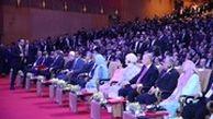 خوشامدگویی جالب ربات زن به حسن روحانی، اردوغان و امیر قطر در کوالالامپور