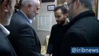 حضور اسماعیل هنیه در منزل سردار شهید قاسم سلیمانی