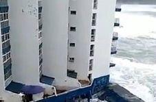 امواج ۹ متری در سواحل اسپانیا!