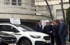 رییس جمهور از چند خودروی جدید داخلی رونمایی کرد
