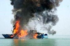 انفجار یک قایق حین سوخت گیری