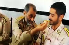 لقمه گرفتن فرمانده مرزبانی برای سربازانش