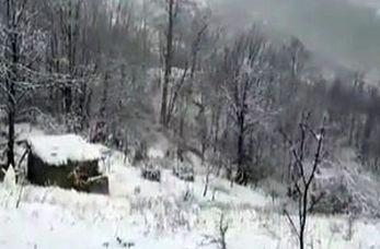 تماشای طبیعت برفی در ارتفاعات اولنگ
