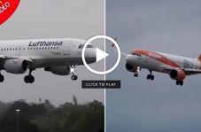 مهارت خلبان در فرود هواپیما حین وقوع طوفان!